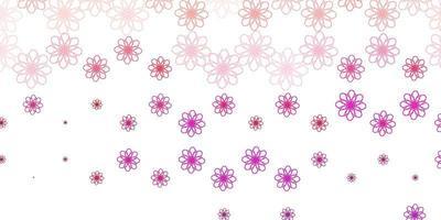 plantilla de vector rosa claro con líneas curvas.