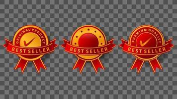 diseño de insignia de mejor vendedor vector