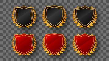 plantillas de insignia de escudo de lujo
