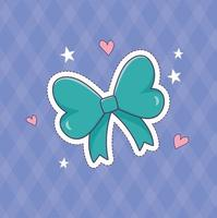 bow decoration patch fashion badge sticker icon vector