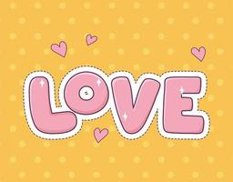love hearts patch fashion badge sticker decoration icon vector