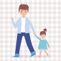 Father and daughter vector design