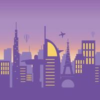 world famous buildings towers skyline architecture urban city scene