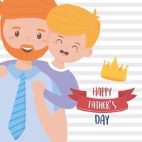 Father with son on fathers day vector design
