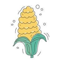 healthy food nutrition diet organic harvest corn icon vector
