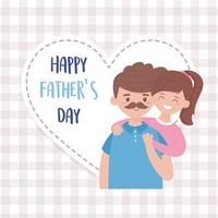 Father with daughter on fathers day vector design