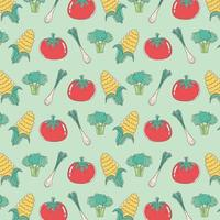 healthy food nutrition diet organic tomato onion corn broccoli vegetables background vector