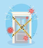 covid 19 coronavirus pandemic, home quarantine protection virus vector