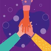 hands of friends vector design