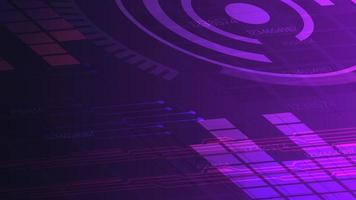 Purple digital background for your creativity with graph, paths and abstract circle vector