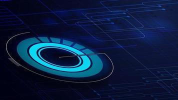 fondo digital azul para tu creatividad vector