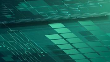 Fondo digital verde para tu creatividad con trazados de gráficos y chips. vector
