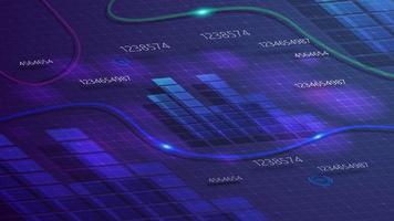 fondo digital morado para tu creatividad con el horario vector