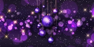 Christmas baubles banner design