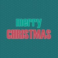Retro style text Christmas design vector
