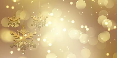 Gold Christmas snowflake design vector