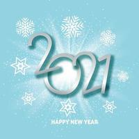Happy New Year background with starburst and snowflake design