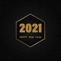 Gold and black happy new year background