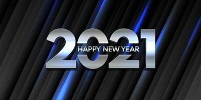 Modern Happy New Year banner design