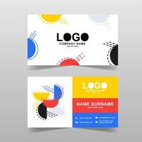 Colorful modern business card template vector