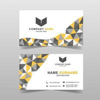 Low polygon geometric business card template vector