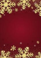 Glittery gold Christmas snowflake background vector