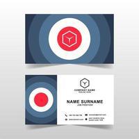 Modern business card vector template