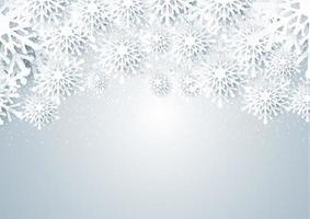 Papercut style Christmas snowflakes design vector