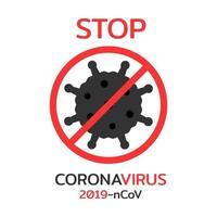 Stop coronavirus campaign icon vector