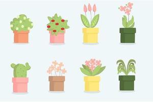 Plants Cartoon Illustration Set