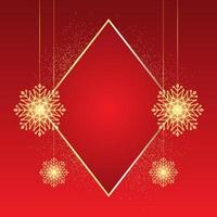 Sparkling christmas snowflake background vector