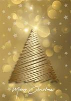 elegant christmas card background with christmas tree design