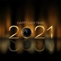 feliz año nuevo fondo con diseño de reloj vector