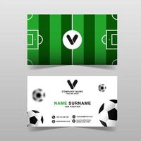 Modern business card vector template with football concept