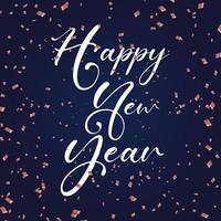 Happy New Year background with confetti
