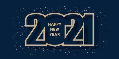 feliz año nuevo diseño de banner vector