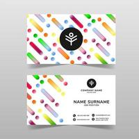 Colorful business card vector template