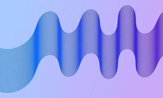 Modern abstract background with blue wavy lines