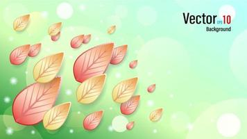 3d Falling Autumn Leaves Background