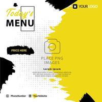 Food menu post social media template design layout