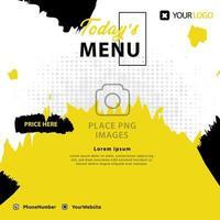Food menu post social media template design for advertising business