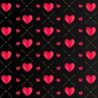Pattern love design on black background