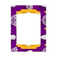 Floral frame photo template design for print design