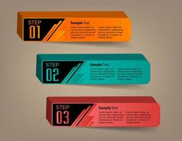 modern 3D text box template, banner infographics vector