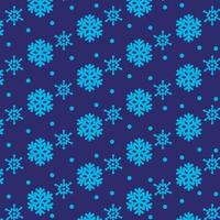 Abstract snowflake pattern design on dark blue background for print design