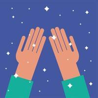 diseño de vector de manos limpias aisladas