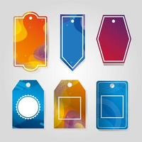 commercial tags hanging with vibrant color