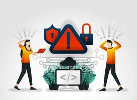 vector flat cartoon character. developer detect hacking of database on the storage system server. private security firms usually provide audits every security services company that successfully hacked