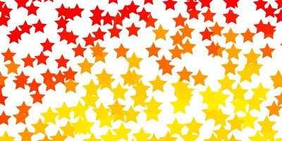 Light Orange vector layout with bright stars.