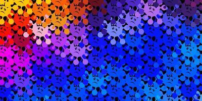 textura de vector multicolor oscuro con símbolos de enfermedad